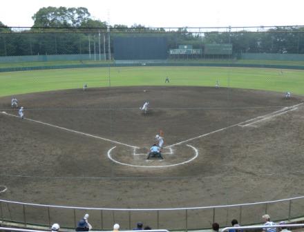 全国高校野球選手権千葉大会2回戦の様子