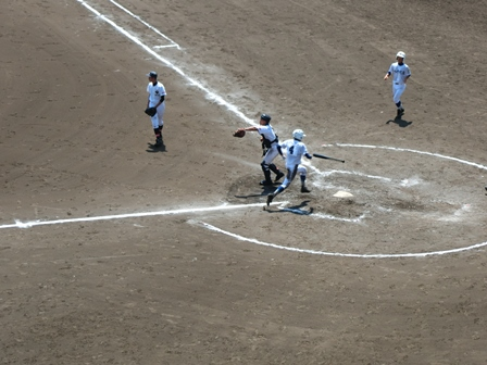 全国高等学校野球選手権千葉大会2回戦の様子